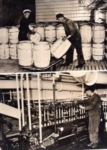 Allemagne? Bateau Navire Frigorifique? Kühlschiff Ancienne Photo de Presse 1943