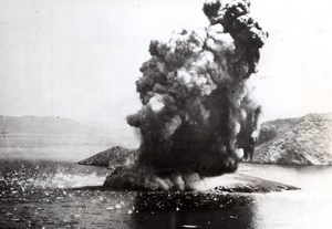 WWII Aegean Sea Enemy Supply Vessel sunk by Beaufighters old Photo 1944
