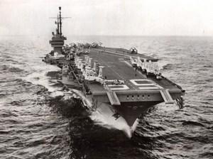 Mediterranean American Aircraft Carrier USS Forrestal Jordan Crisis Photo 1957