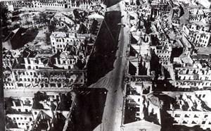 WWII Belarus Minsk Aerial View Ruins Air Raid old Photo 1941