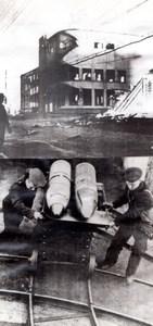 WWII Russia Petrozavodsk Destruction Scenes Ruins Shells War old Photo 1941
