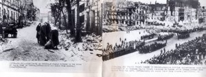 WWII Poland Warsaw Ruins Polish Military Parade old Photo 1945