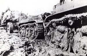 WWII German Tanks in Russian Mud old Photo 1940's