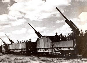 WWII Russia Eastern Front Russian Armored Train Red Army old Photo 1945