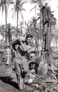WWII Los Negros Island Australian RAAF JG Kennar of Coonabarabran Old Photo 1944
