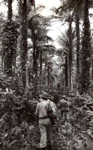 WWII Los Negros Island Australian RAAF Soldier Patrol Momote Airfield Photo 1944