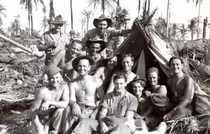 WWII Los Negros Island Australian RAAF Soldiers Momote Airfield Photo 1944