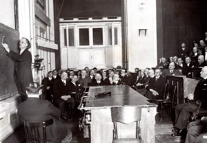 Poland Warsaw Professor Piccard Conference Stratosphere Flight old Photo 1935