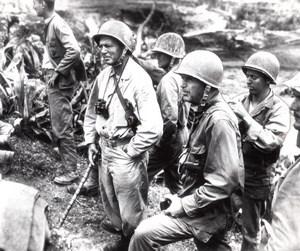 Japan Okinawa Lemuel Shepherd Simon Bolivar Buckner old Photo June 1945