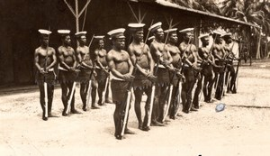 Papua New Guinea Madang Native Police Guard of Honor old Press Photo 1920's
