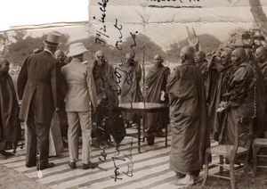Burma Mandalay Prince of Wales & Buddhist Priests old Press Photo 1920's