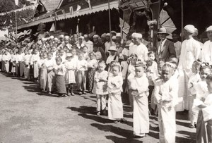 Burma Prince of Wales Visit Burmese School children old Press Photo 1920's