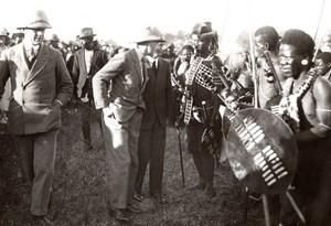 South Africa Zululand Eshowe Prince of Wales Usutu Dancers old Press Photo 1925