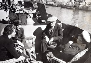 Malta President Roosevelt & Prime Minister Churchill & Daughters old Photo 1945