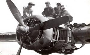 New Guinea? WWII RAAF Ground Staff Liberator Bomber old Press Photo 1944