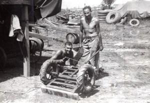 Philippines WWII Australian Troops RAAF Airfield old Press Photo 1945