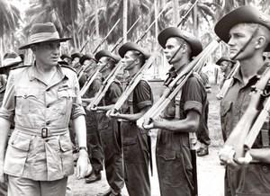 Aitape Lord Wakehurst Inspecting Australian Troops old Press Photo 1945