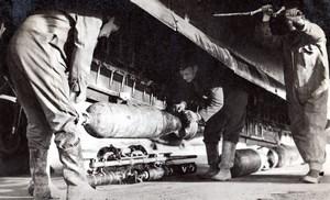 WWII Coastal Command Vickers Wellington Flare Bomb old Press Photo 1944