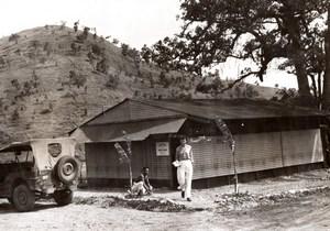 New Guinea WWII Emile Beauty Parlor Salon old Press Photo 1944