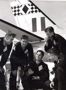 Australia RAAF Black Diamonds Aerobatics Team Named Aviation old Photo 1961