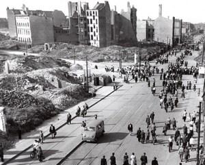 Allemagne de L'Est Berlin Greve Generale des Travailleurs Ancienne Photo 1953