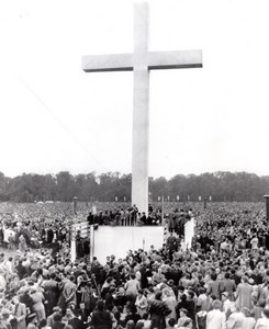 East Germany Leipzig Church Rally Religion Cross old Photo 1954