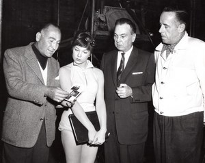 Artists and Models Shirley MacLaine Carroll Righter Frank Tashlin Old Photo 1955