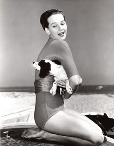 Actress Taina Elg & her Dog The Prodigal old Photo 1955
