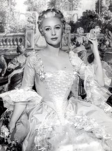 Martine Carol in the french film Madame du Barry old Photo 1954