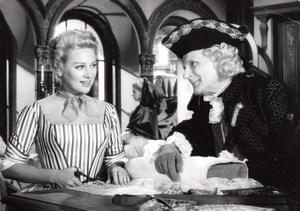 Martine Carol Denis d'Inès in the film Madame du Barry old Photo 1954