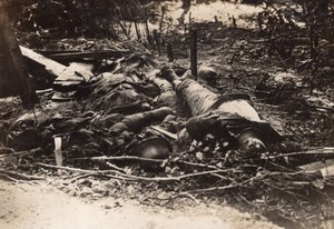 German Bodies and Dugout Dead Soldiers WWI old Photo 1914-1918