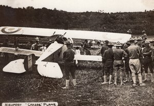 Nieuport Fighter Aircraft WWI Aviation old Photo 1914-1918