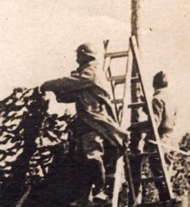 Marne Livry-sur-Vesle Route Camouflee Camouflage WWI Ancienne Photo 1914-1918