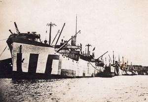 Bordeaux USS West Lianga Navire Americain Cargo WWI Ancienne Photo 1918