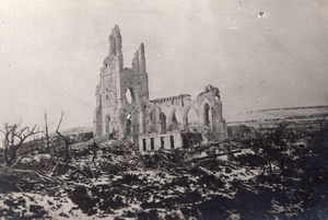 Pas de Calais Ruins of Church at Ablain-Saint-Nazaire WWI old Photo 1914-1918