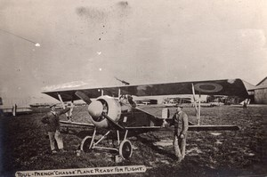 Toul French Chasse Plane ready for Flight Aviation WWI old Photo 1914-1918