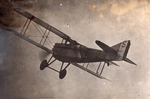Captain Guynemer in full Flight Military Aviation WWI old Photo 1914-1918