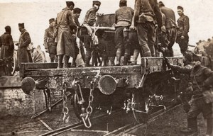 Arrival of a Divisions Artillery bound for Front WWI old Photo 1914-1918
