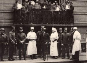 Paris French-Uruguayen Hospital Military Delegation WWI old Photo 1918