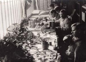 Travaux des Mutiles Fabrication de Jouets WWI Ancienne Photo 1914-1918