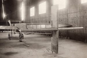 Aviation Kapferer Paulhan Airplane Tail in Hangar old Branger Photo 1908