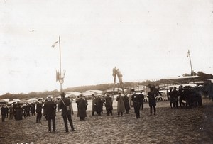 Aviation Vincennes? Meeting Hangars and Spectators old Branger Photo 1910