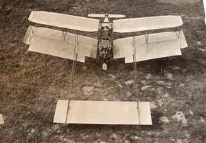 Ernest Zens Pusher Biplane 50 HP Antoinette Engine old Agence Rol Photo 1908