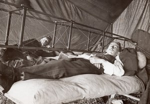 Military Aviation Martinet & Legagneux in a Tent old Branger Photo 1911