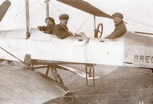 French Military Aviation Breguet Biplane Rene Moineau old Meurisse Photo 1911
