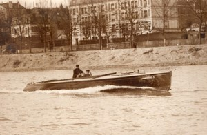 France Paris? Chantecler II Motor Boat Despujol old Rol Photo 1910