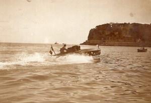 Monaco Meet Motor Boat Races Youki Tellier ? Old Rol Photo 1913