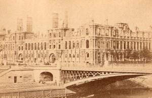 La Commune de Paris Hotel de Ville City Hall Ruins Bridge old Loubere Photo 1871