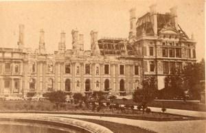 La Commune de Paris Tuileries Pavillon de l'Horloge Ruins old Loubere Photo 1871