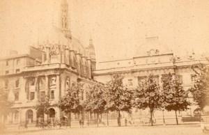 La Commune de Paris Palais de Justice Ruins old Loubere Photo 1871